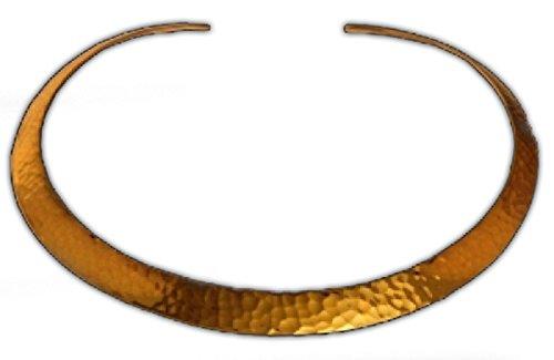 Battle-Merchant Halsreif, breit aus Messing, gehämmert Gothic Halsband LARP Kette Wikinger