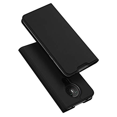 DUX DUCIS Hülle für Nokia 5.3, Leder Flip Handyhülle Schutzhülle Tasche Case mit [Kartenfach] [Standfunktion] [Magnetverschluss] für Nokia 5.3 (Schwarz)