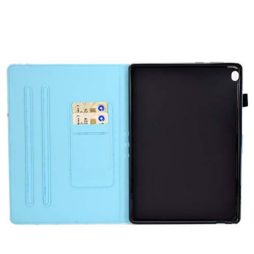 Aswant Lenovo Tab M10 / M10 HD 1. Generation Schutzhülle PU Leder Flip Cover Brieftasche Kartensteckplatz Magnet Tablet Hülle für Lenovo Tab M10 / Lenovo Tab M10 HD - Musik AFFE
