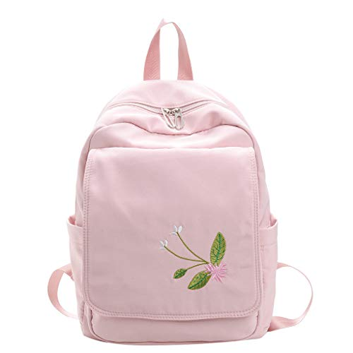 KaloryWee Bestickt Bestickte Rucksack Candy Farbe Einfacher und niedlicher Studentenrucksack Kinderrucksäcke Schultaschen Rucksackhandtaschen