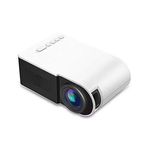 Zengqhui Proyector 1080P Mini Led proyector de Contraste de 800: 1 soporta una resolución de 1920x1080 Resolución Proyector de Cine (Color : White, Size : One Size)