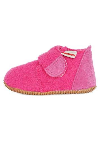 GIESSWEIN Oberstaufen – Kinder Hausschuhe Unisex, Pink (Himbeer 364), 23 EU