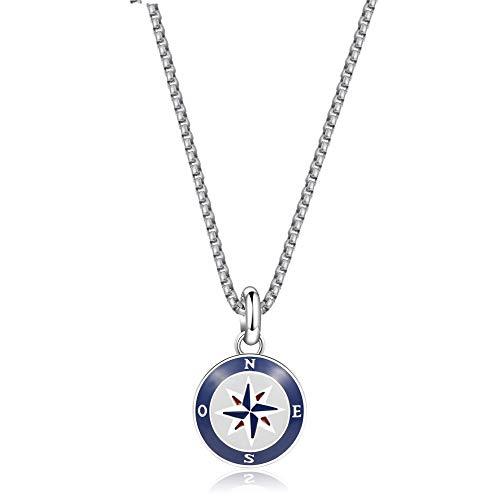 Brosway Jewels Collana Uomo Horizon BHO04 Rosa Dei Venti Con Cordino In Omaggio