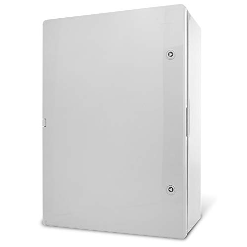 KOOP - Armario eléctrico con placa de montaje IP65 galvanizada, puerta con junta giratoria, carcasa de pared, carcasa vacía, plástico ABS, armario vacío 350 x 500 x 190 35 x 50 x 19