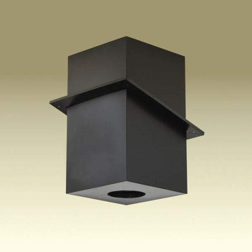 Copperfield 69680 6 Inch Dura-Vent Dura/plus Cathedral Ceiling Support, Galvalume Painted Black, Trim Collar Included