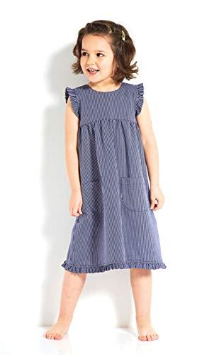 modAS Kinder Fischerkleid Basic schmal gestreift Gr. 110