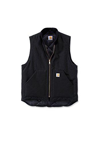 Carhartt V01 Duck Vest Arctic Quilt Lined - Weste (XXL, Black)