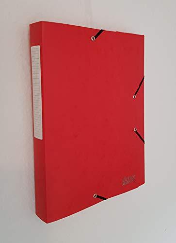 10x Office Depot Archivbox mit Gummizug - DIN A4-40 mm - 24x32 cm - 600g - rot - Pappe - Premiumqualität