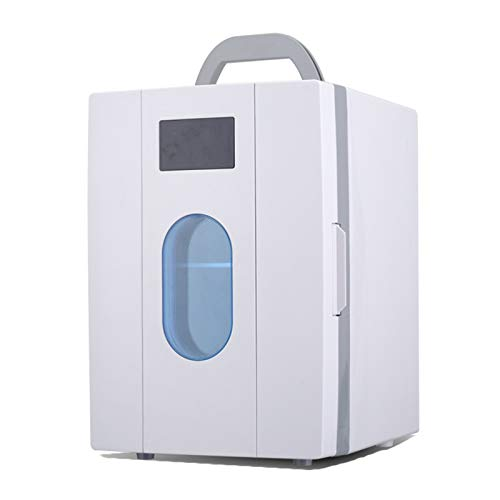 MNCYGJ Mini Refrigerador Sin Ruido 10L Minibar Pequeña Nevera para Habitaciones Refrigerador De Coches 12V / 220V Retro Beverage Finder Pequeño para Turismo, Oficina, Dormitorio, Tienda De Frío