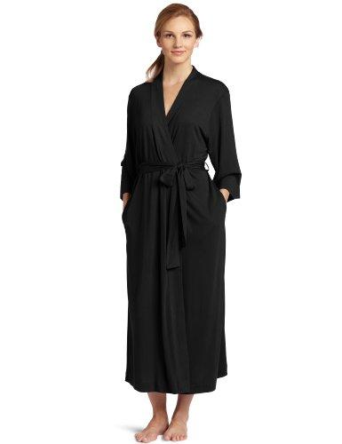 Natori Shangri La - Albornoz con mangas kimono, para mujer -  Negro -  XL