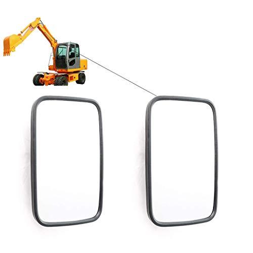 governingsoldiers 2 X Universal Retrovisor, Espejo Exterior 255X 163 Mm Espejo Laterales para Camiones Caravanas Tractor Excavadora Maquinaria AgríCola,Doublelens
