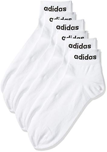 Adidas Socks 3 Pack Sports Ankle White CF3386 Junior Boys Size U.K 2.5-5