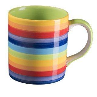 Windhorse Regenbogen gestreifte gerade Tasse (1 Becher)