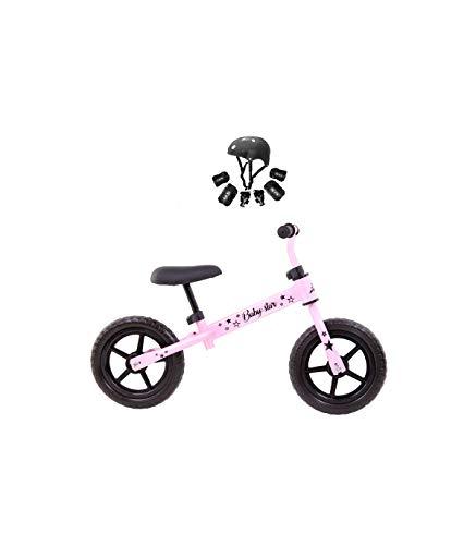 Grupo K-2 Riscko - Bicicleta sin Pedales con sillín Y Manillar Regulables | Ultraligera | Correpasillos Minibike | Bicicleta para Niños de 2 a 5 años Baby Star Rosa Chicle