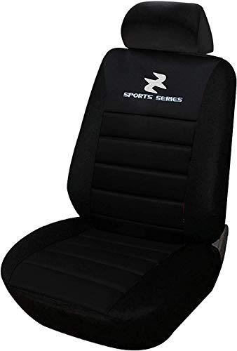 WOLTU Coprisedile Anteriore Singolo Universale per Auto Seat Cover Protezione per Sedile di Poliestere Nero AS7254