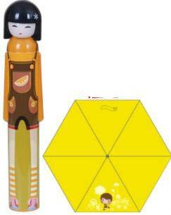 Paraguas para niños de fábrica Directa Creativa TransparenteMujer Paraguas para niños - Naranja