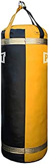 PROLAST Luxury Heavy Bag for Punching and Kicking- Great for Boxing, MMA and Muay Thai (130 LB 4ft Black/Yellow, Filled)