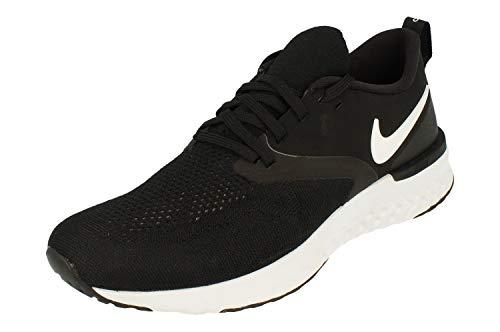 Nike Herren Odyssey React 2 Flyknit Laufschuhe, Schwarz (Black/White 010), 45 EU (10 UK)