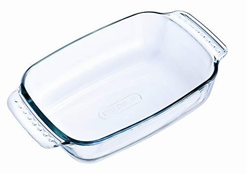 Pyrex Classic Vidrio - Fuente rectangular, 22 x 13 cm, transparente