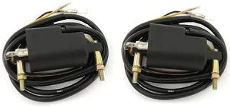 Set of 2 Ignition Coils - 4 ohm 12V Dual Output - Compatible with Kawasaki KZ650 KZ900 KZ1000 Z1 - Suzuki GS550 GS750 GS850 GS1000