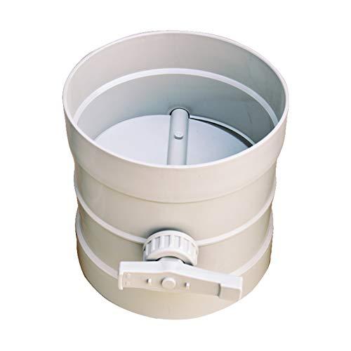 XINYE wuxinye 1 unids Plastic Air Damper Valve HVAC Electric Air Damper Damper Motorizado Fit para Válvula de tubería de ventilación 220V 24V 12V 50-200mm (Color : 90MM)