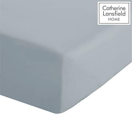 Catherine Lansfield Beugelvrij hoeslaken, percale katoenen polyester, eenpersoonsbed