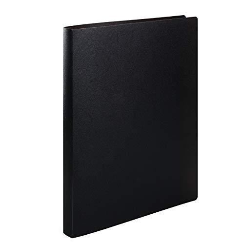 HERMA 19160 Ringbuch DIN A4 Transluzent Schwarz, 2 Ringe, 25 mm breit, schmaler transparenter Ringbuchordner aus stabilem Kunststoff, 1 Ringbuchmappe