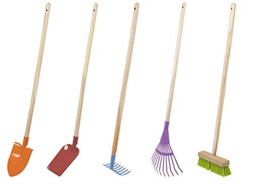 Windhager Gartenwerkzeug Kinder Set 5 Teilig, Garten-Geräte Kinder, Kinderspielzeug für Garten, Kinder Werkzeug, Gartenwerkzeug-Set, 93351