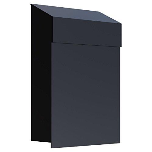 Brievenbus, design muurbrievenbus baby box zwart - Bravios
