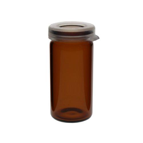 5 x Tablettengläser 5 ml - Farbe: Braun - mit Schnappdeckel / Tablettenglas / Rollrand / Rollrandglas / Schnappdeckelglas / für allgemeine Aufbewahrungszwecke, Proben, Pulver, Schüssler-Salzen, Tabletten, Globuli oder ähnliche Stoffe