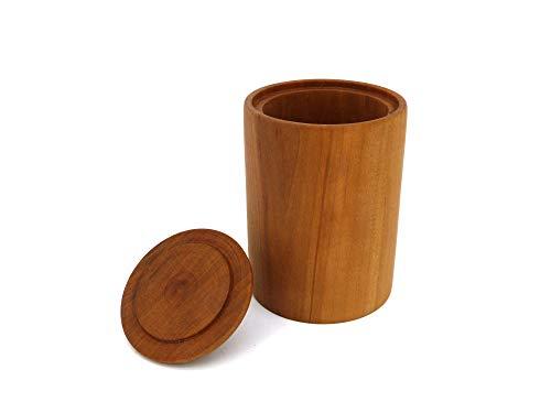 Holzdose rund mit Deckel, Handarbeit aus Deutschland, aus massivem Birnenholz, Echtholz, unikat, edel, deko, nachhaltig, Aufbewahrungsbox