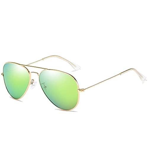 Gafas De Sol Gafas De Sol Polarizadas Hombres Mujeres Clásico Piloto De Conducción Gafas De Sol Espejo Vintage Gafas De Sol Dorado