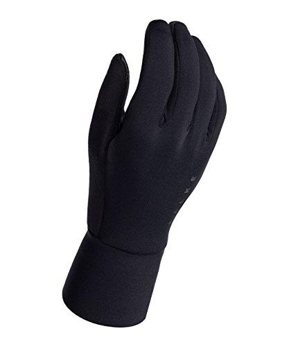 Falke Brushed handschoenen, uniseks, 1 stuks, verf. Kleur: zwart, maat S-XL - vochtregulerend, sneldrogend, verwarmend, reflecterend, bescherming bij milde tot koude buitentemperaturen.