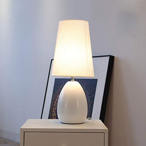 Home LED kleine tafellamp slaapkamer nachtlampje woonkamer moderne minimalistische decoratieve tafellamp E27 smeedijzeren fluwelen lampenkap (kleur: wit)