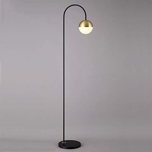 No band eenvoudige ijzeren kunst-vloerlamp, moderne led-vloerlamp, brons draagbare leeslamp staande lamp voor woonkamer slaapkamer 404