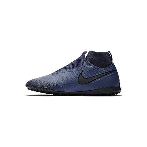 Nike React Phantom VSN Pro DF TF Herren Football Boots AO3277 Soccer Cleats (UK 10 US 11 EU 45, Midnight Navy Black Grey 440)