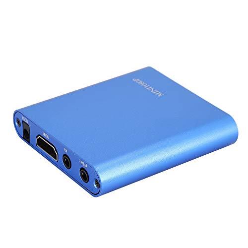 Mini Reproductor de Medios Digitales, decodificador de Disco Duro portátil Full HD 1080P HDMI con Control Remoto, para Video MKV, películas BLU-Ray(Enchufe Azul de la UE)
