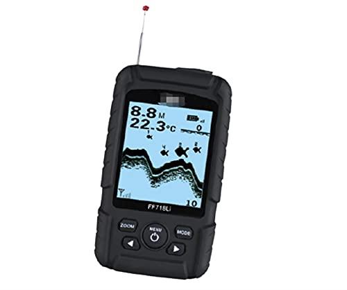 XUANXUAN NewRed Store FF718. Li-W 2,8 Zoll LCD Echter wasserdichter Fischfinder Monitor Wireless Sonar Fish Finder Sonar Fish Sonar Wireless Alarm (Color : Black)
