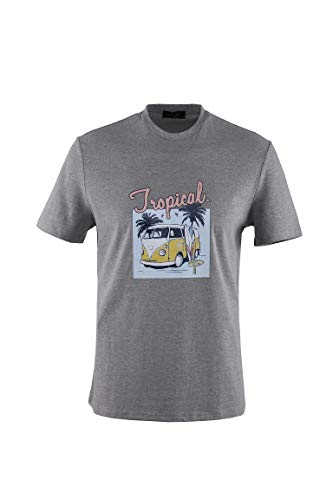 0128Voray Ga Camiseta Hombre algodón Estampado Dibujo Hippie
