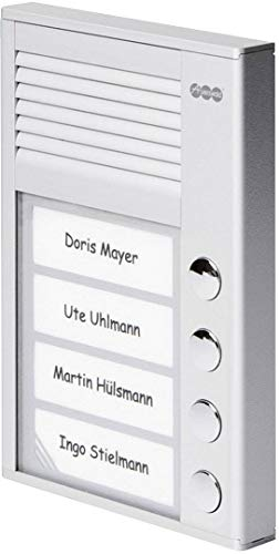 Auerswald TFS-Dialog 204,Türsprechstelle 4Taster Für A/B aluminium