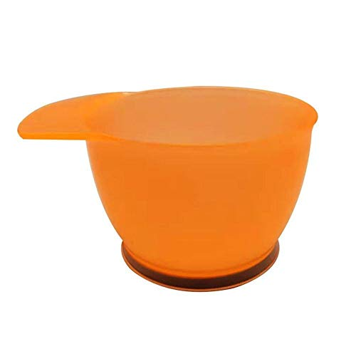 NoraHarry 1 / 2pcs Coloration Pinceau en Plastique Dye Peigne Bowl Coiffure Outils coiffants Dyeing Kit Couleur des Cheveux Saladiers ( Color : Orange