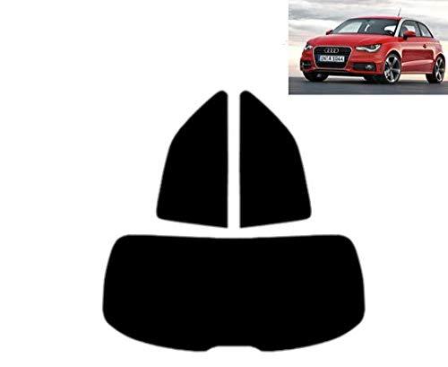 Tintcom.com Pellicola Oscurante Vetri Auto Pre-Tagliata per-Audi A1 3-Porte 2010-. Vetri Posteriori & Lunotto (05% Super Nero)