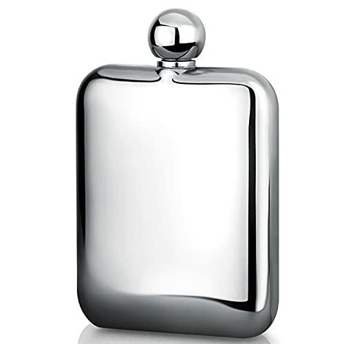 ZHUANQIAN Petaca portátil de acero inoxidable, frasco de cadera portátil al aire libre, botella de alcohol para padrinos, regalos (color: Style1)