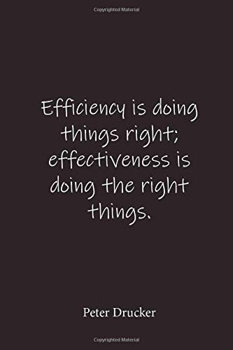 Efficiency is doing things right; effectiveness is doing the right things.: Peter Drucker - Place for writing thoughts