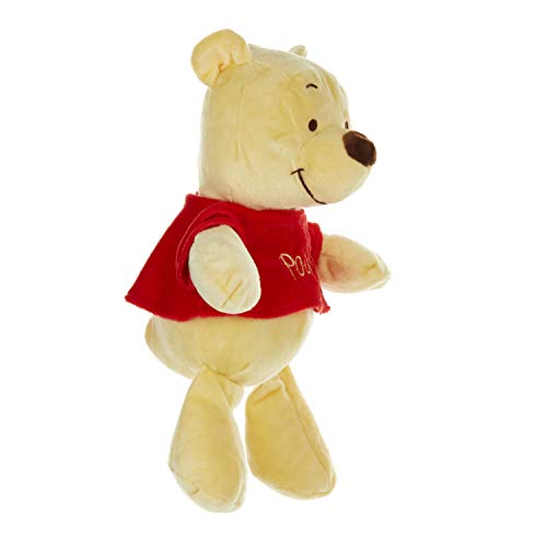 Disney Baby Winnie The Pooh Stuffed Animal Plush with Jingle & Crinkle Sounds, 12 Inches