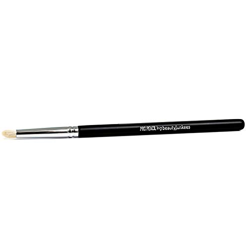 Pencil Eyeshadow Smudge Makeup Brush - Beauty Junkees Professional Eyeliner Smudger Make Up Brush, Small Soft Firm Pointed Natural Hair Bristles for Blending Eye Shadow Liner, Premium Quality