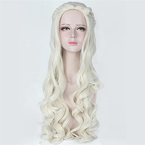 Game Of Thrones Daenerys Targaryen Wigs Cosplay Costume Props Headwear Long Hair Blonde Peruca Woman Halloween Carnival Purim Pl-765-1