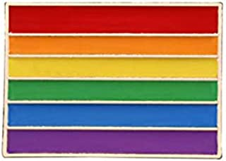 WEHONG Spilla con Bandiere Arcobaleno Pride Spille Smaltate Intersessuali Spille A Forma di Cuore Carino Spille con Badge ...
