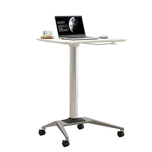 YBWEN Rednerpult Stehen Büro Hubtisch Einfache Moderne Laptop-Schreibtisch Mobil Speech Arbeitstisch Laptop-Computer Steht (Farbe : White, Size : One Size)