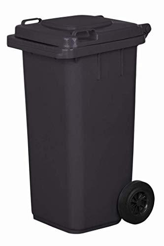 JESTIC Mülltonne Abfalltonne Reststofftonne 120L laufruhige Vollgummi-Räder NEU (Graphite)